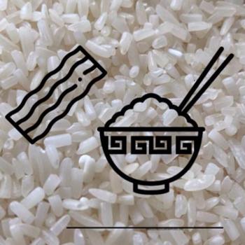 Reis mit Schinken