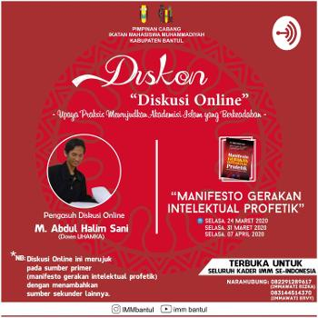 """DISKON """"Diskusi Online"""" PC IMM Kabupaten Bantul"""