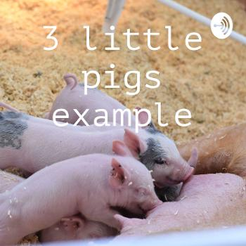 3 little pigs example